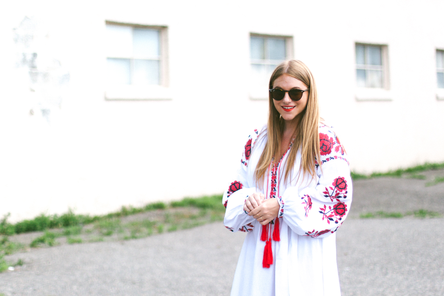 I've had a huge style crush on all things embroidered and lanterned  sleeved, but most of the dresses I'd been coveting were well out of my  price range.